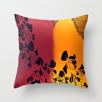 The Flower of our Discontent Throw Pillow