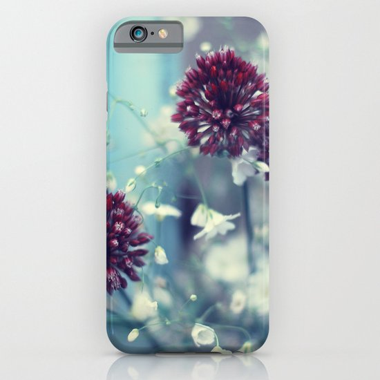 Flowers on Blue iPhone & iPod Case