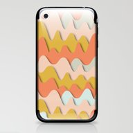 Colorful Waves iPhone & iPod Skin