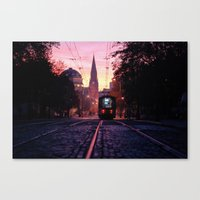 Sunrise Commute Canvas Print