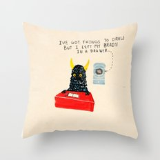 Silly Rhyme doodles  Throw Pillow