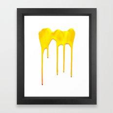 Yellow Splatter Framed Art Print
