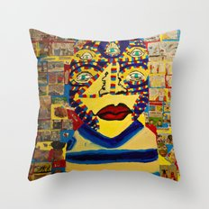 News and eyes Throw Pillow