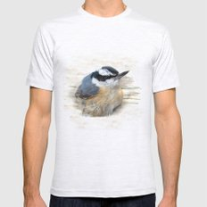 Red-breasted Nuthatch Mens Fitted Tee Ash Grey SMALL
