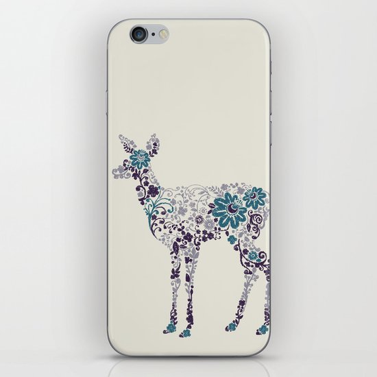 Flower Deer iPhone & iPod Skin