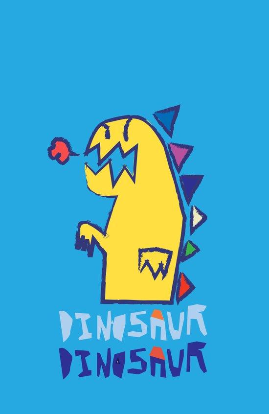 yellow dinosaur Art Print