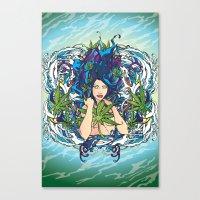 GANJA GIRL Canvas Print