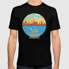 San Diego Black SMALL Mens Fitted Tee