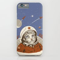 iPhone & iPod Case featuring Soviet Space Cat by Chris Kawagiwa