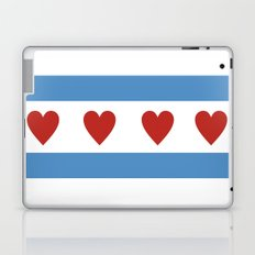 chicago love flag Laptop & iPad Skin