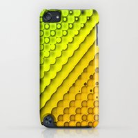 iPod Touch Cases featuring Citrus Sunshine Geometric Abstract by Janice Austin Designs