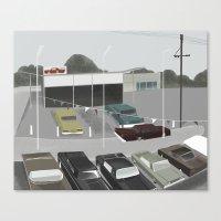 car lot Canvas Print