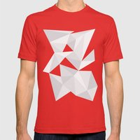 White Deconstruction Mens Fitted Tee Red SMALL