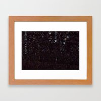 Cosmic Glitch Framed Art Print