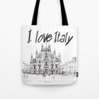Duomo di Milano - schizzo Tote Bag