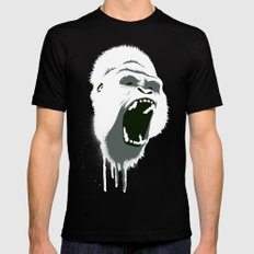 Gorilla Head SMALL Mens Fitted Tee Black