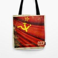 Sticker Of Soviet Union … Tote Bag