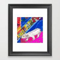 White Bear Framed Art Print