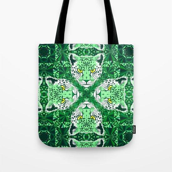 Emerald Leopard  Tote Bag