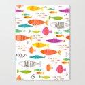 Rainbow Fish Print Canvas Print