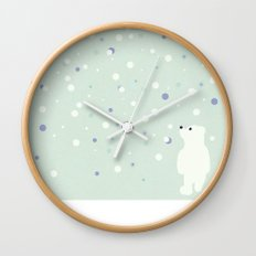 Snowfall 2 Wall Clock