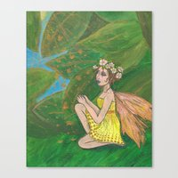 Leaves That Glitter Canvas Print
