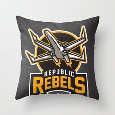 Republic Rebels - Black Throw Pillow