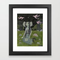 Girl on the Edge of Town Framed Art Print