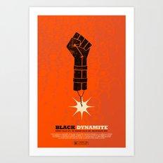 black dynamite. Art Print