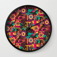 Arabesque Floral Wall Clock