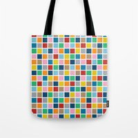 Colour Block Outline Tote Bag