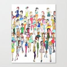 Fashionista Canvas Print