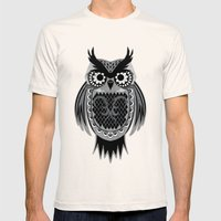 Owl Mens Fitted Tee Natural SMALL