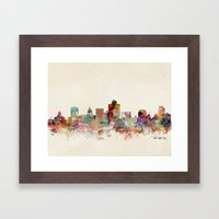 Salt Lake City Utah Framed Art Print
