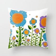 Flower#3 Throw Pillow
