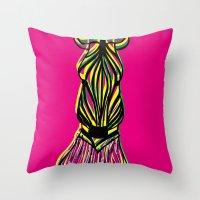 Seeing Zebra Throw Pillow
