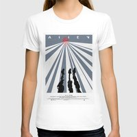 movie poster T-shirts featuring Alien (1979) Movie Poster by desistfilm