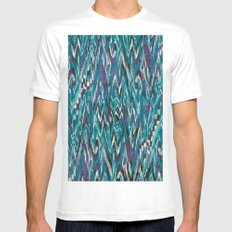 Ikat4 SMALL White Mens Fitted Tee