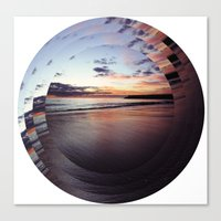 circular beach Canvas Print