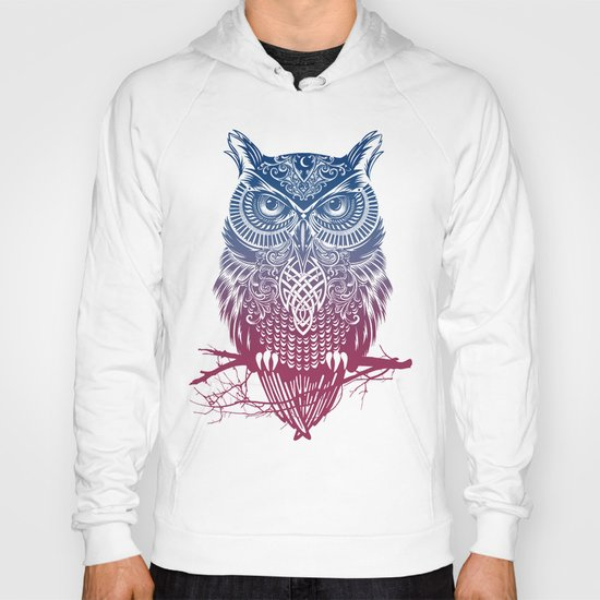 Evening Warrior Owl Hoody