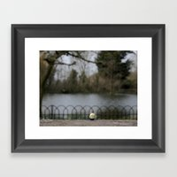 Tommy By The Lake  Framed Art Print