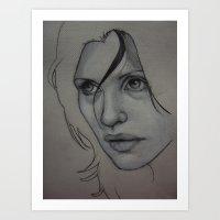 Charcoal experiment #3 Art Print
