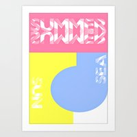Summer. Sun. Sea Art Print