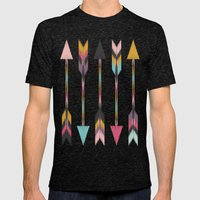 Bohemian Arrows-Pattern Mens Fitted Tee Tri-Black SMALL