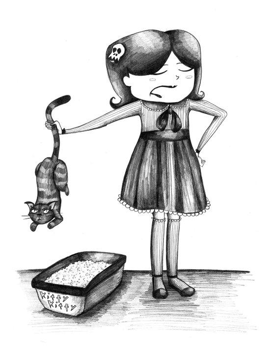 Kitty Litter Art Print