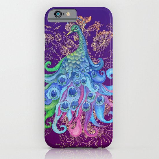 Peaceful Peacock  iPhone & iPod Case
