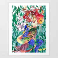 Wet Love Art Print
