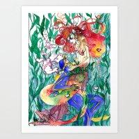Wet Love Art Print