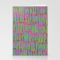 Multicoloured Brushstrokes Print Stationery Cards