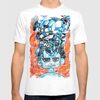 Denial Process Mens Fitted Tee White SMALL